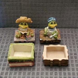 Frog Trinket Boxes